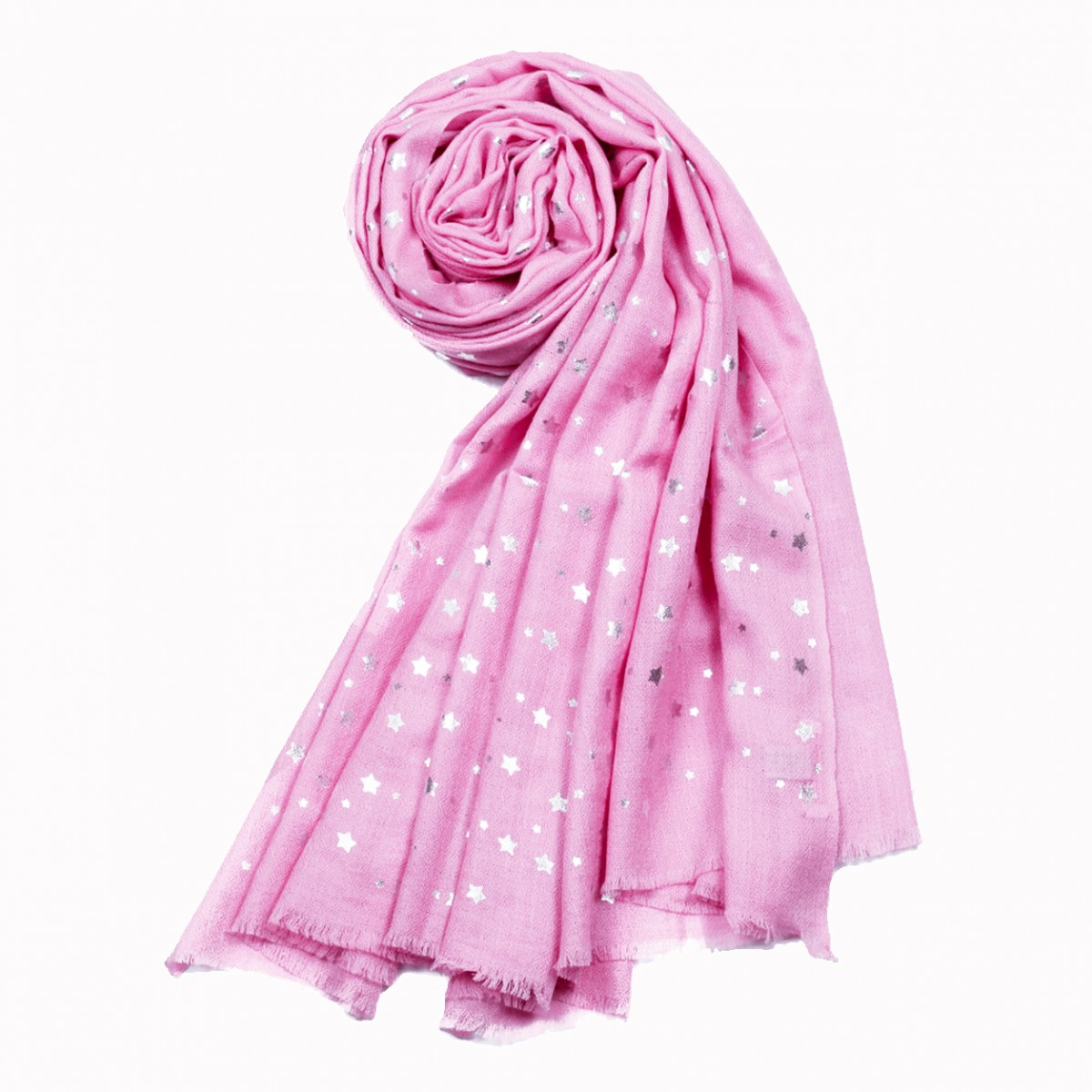 Merino Wool Star Shawl - Carnation Pink