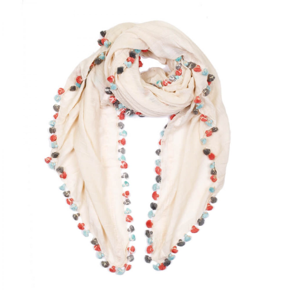 Summer Cotton Scarf - Light Pink