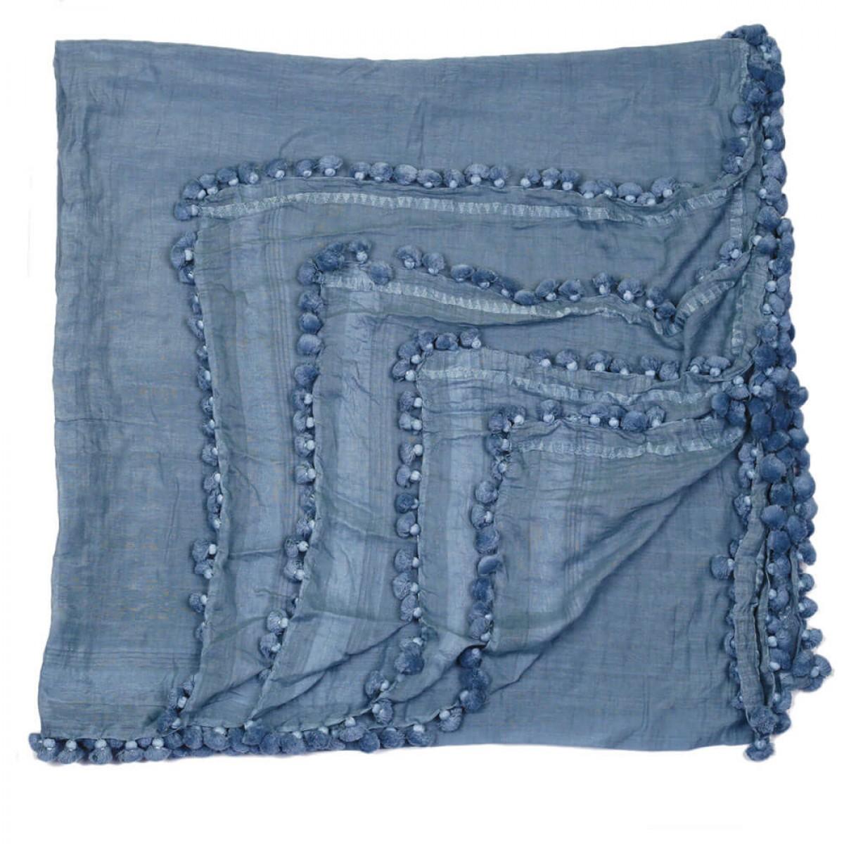 Summer Cotton Scarf - Light Blue