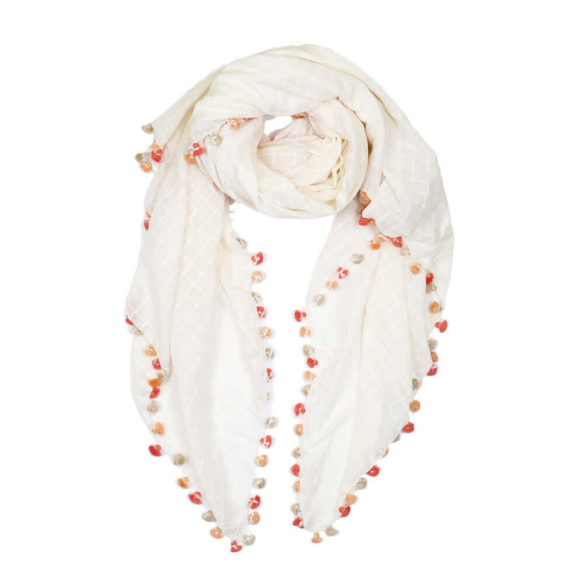 Summer Cotton Scarf - Off White
