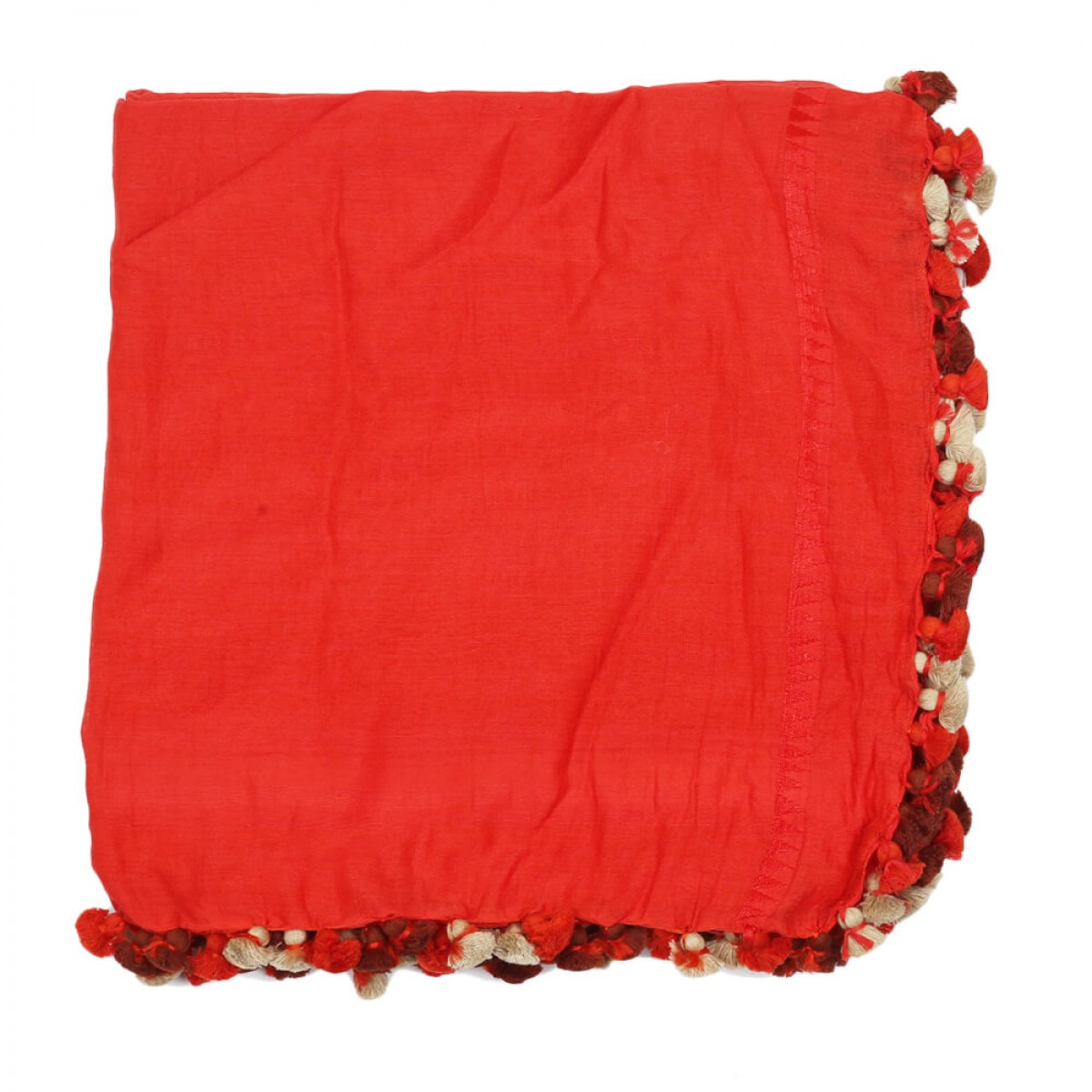 Summer Cotton Scarf - Crimson Red