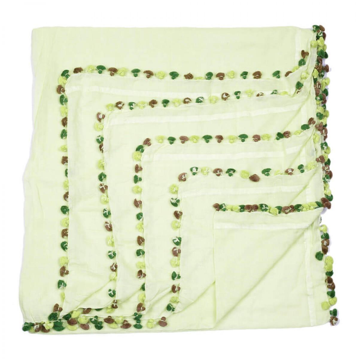 Summer Cotton Scarf - Light Green
