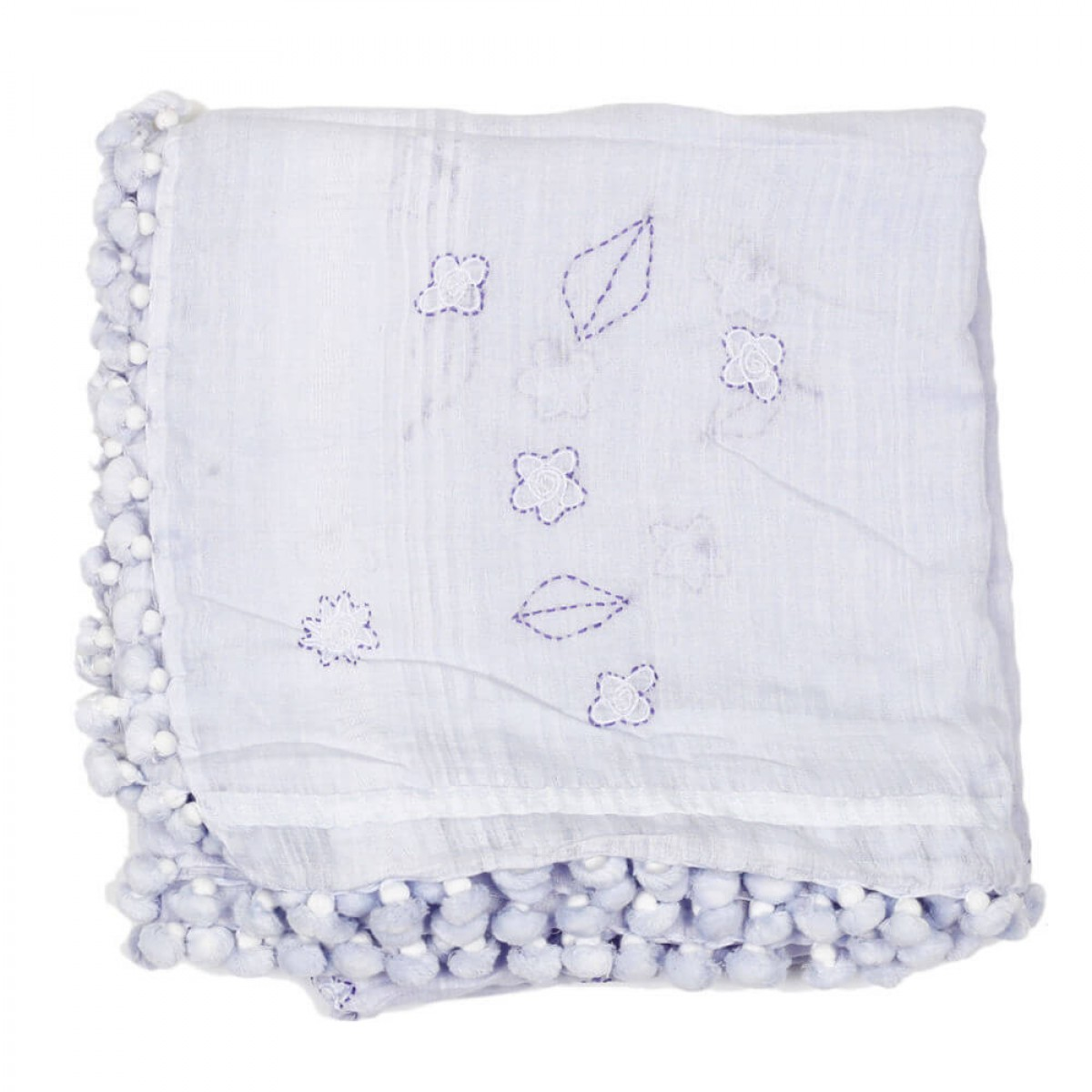 Summer Cotton Scarf - Light Blue