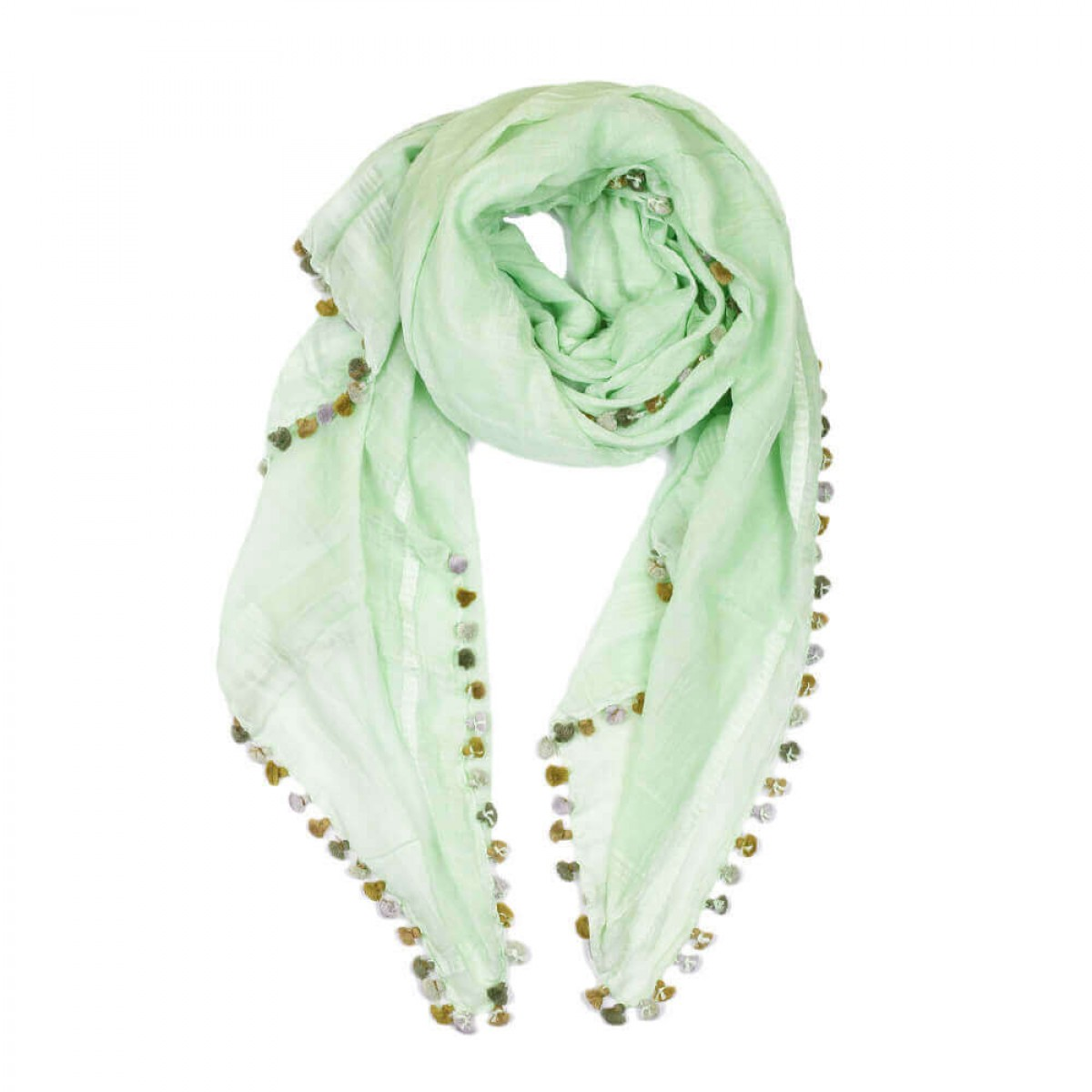 Summer Cotton Scarf - Green