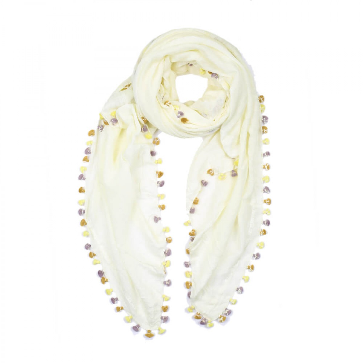 Summer Cotton Scarf - Light Yellow