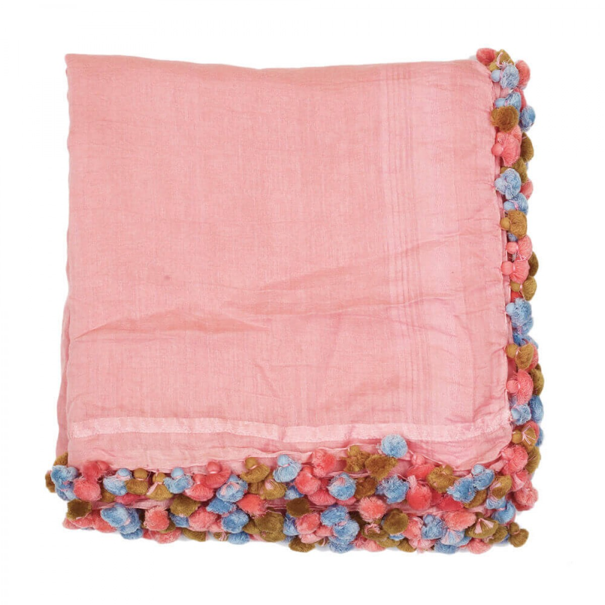 Summer Cotton Scarf - Baby Pink