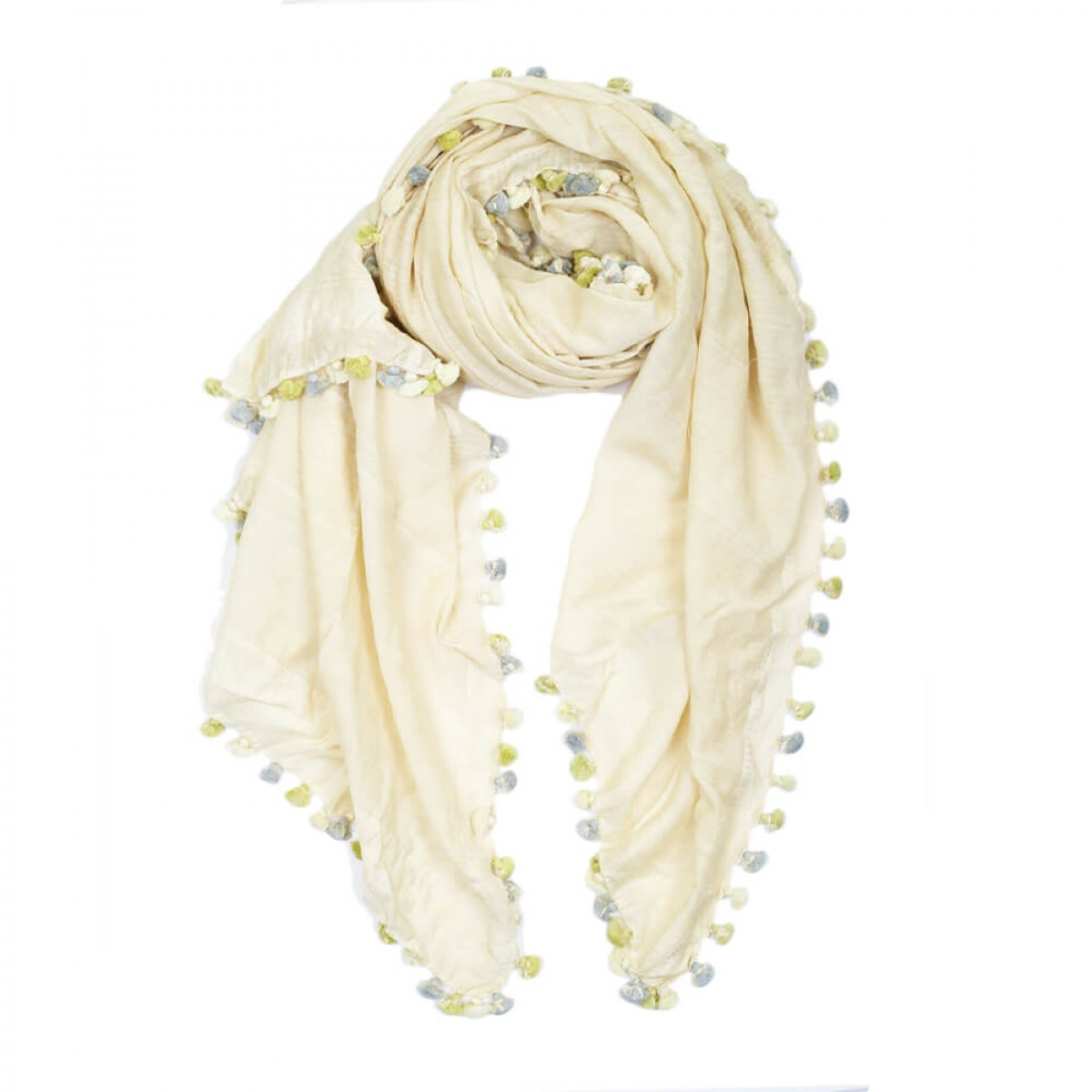 Summer Cotton Scarf - Pale Yellow