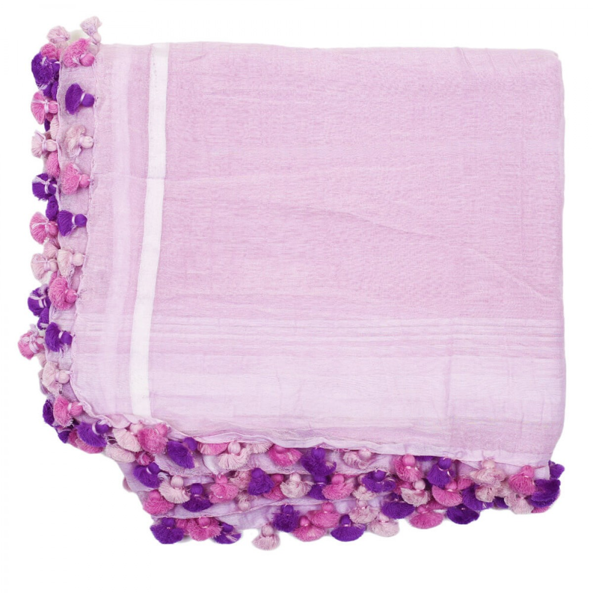 Summer Cotton Scarf -  Purple