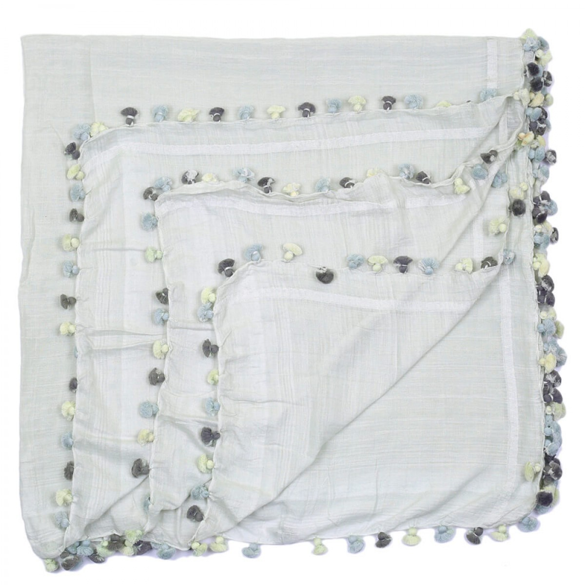 Summer Cotton Scarf - Light Grey