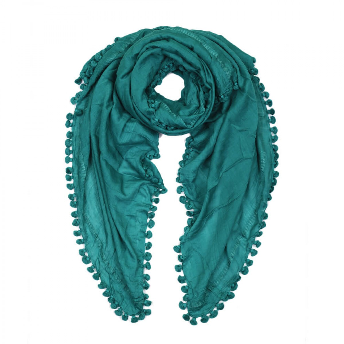 Summer Cotton Scarf - Teal