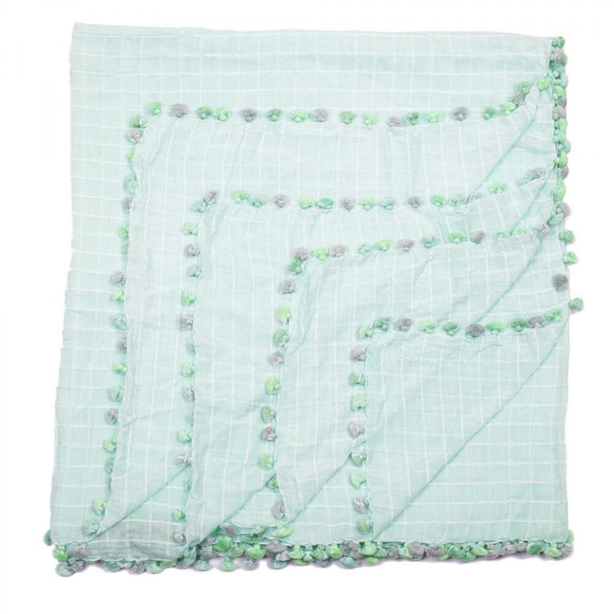 Summer Cotton Scarves - Teal