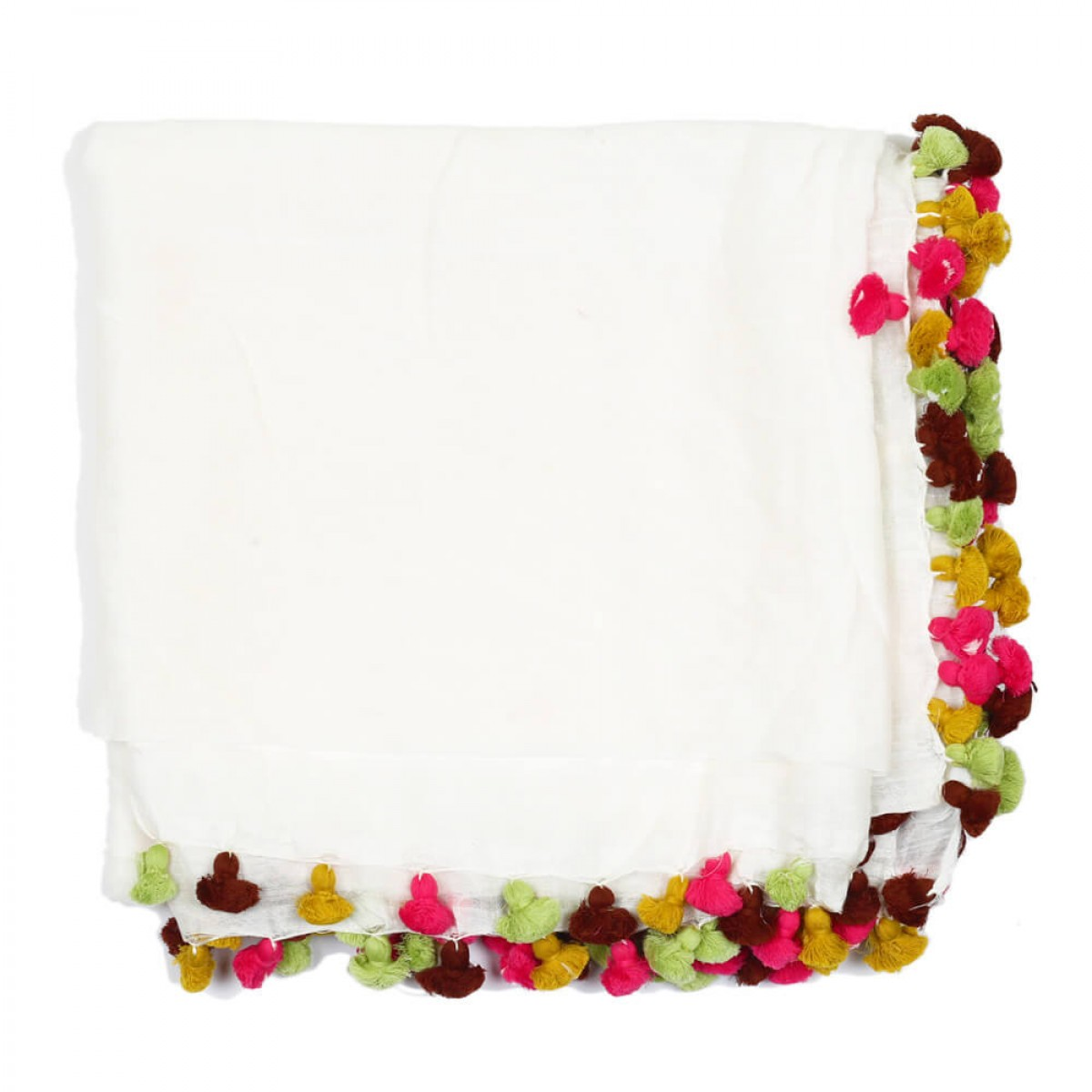 Summer Cotton Scarf - Cool White