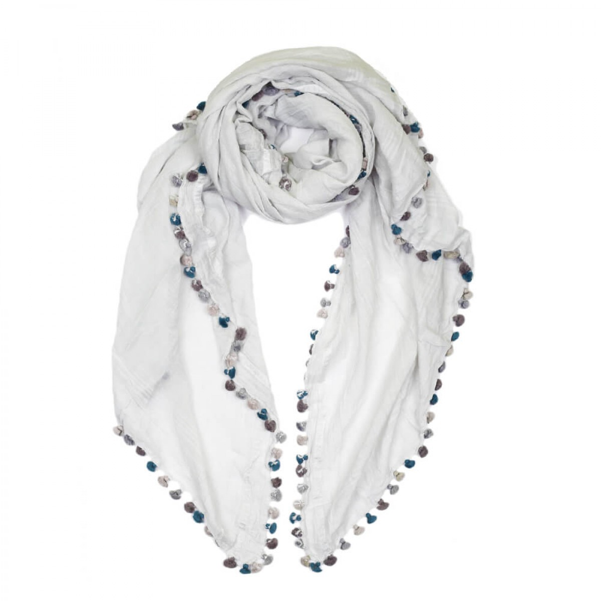 Summer Cotton Scarf -  Clear Water