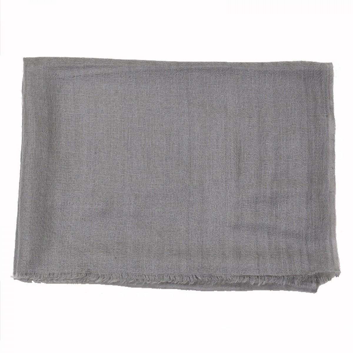 Gray sheer pashmina scarf