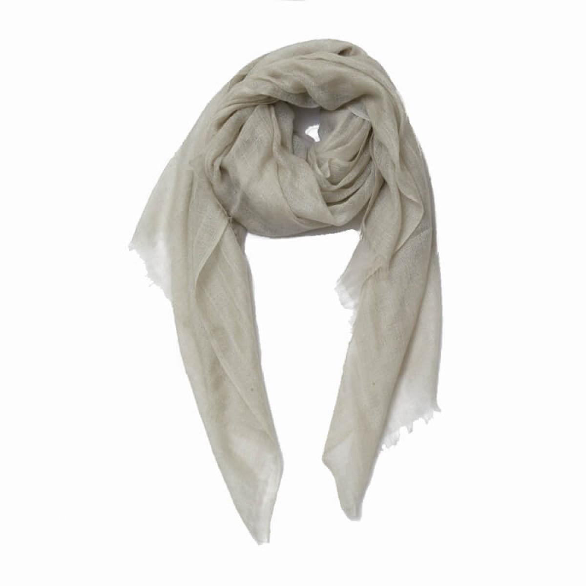 Light beige sheer pashmina scarf