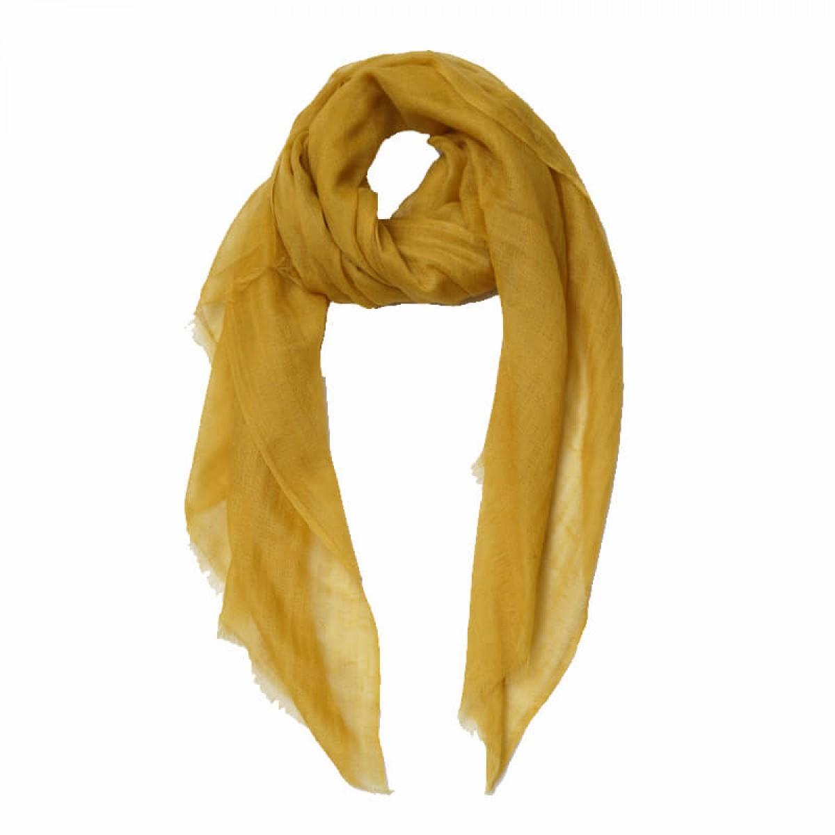 Light brown sheer pashmina scarf
