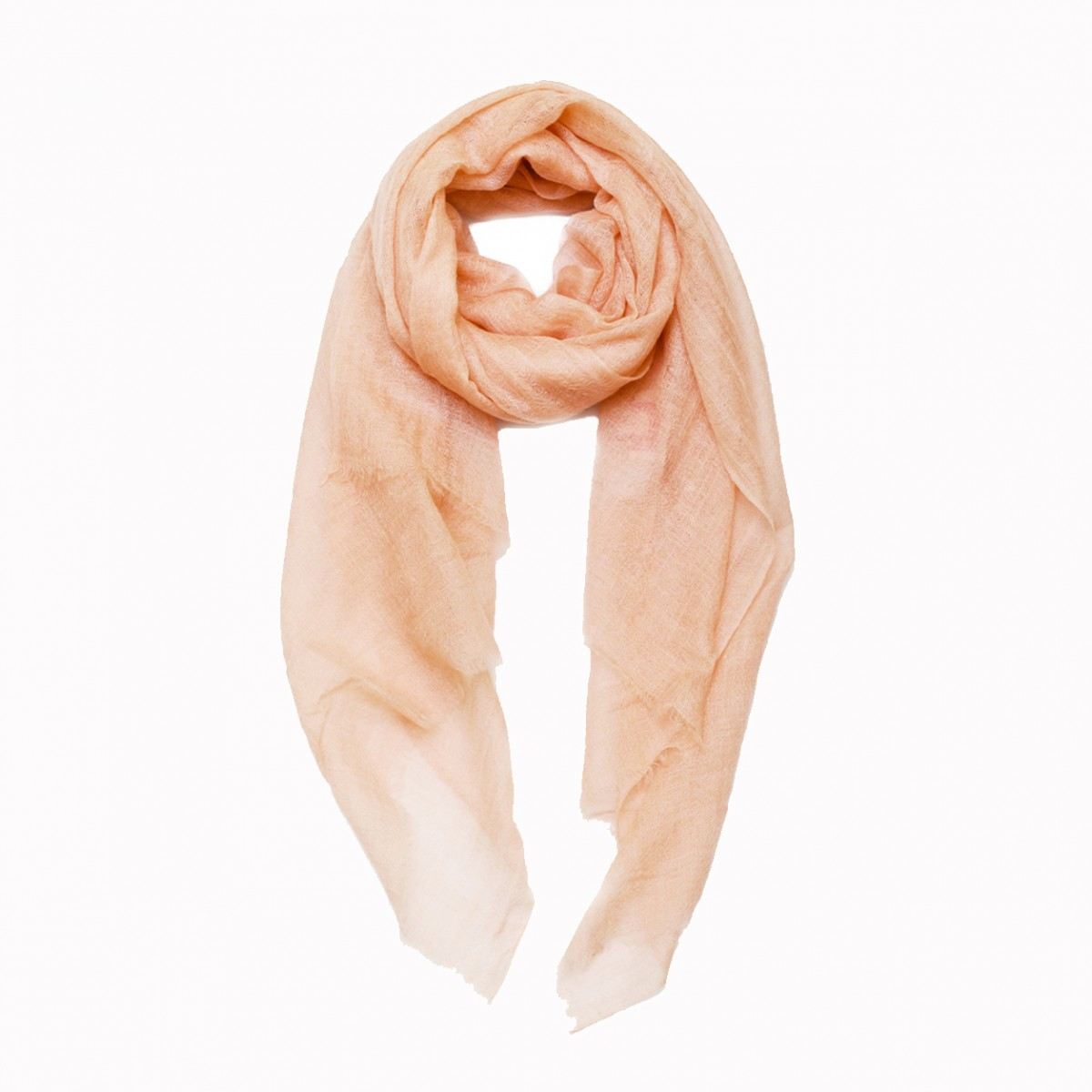 Sheer Pashmina Scarf - Peach Echo