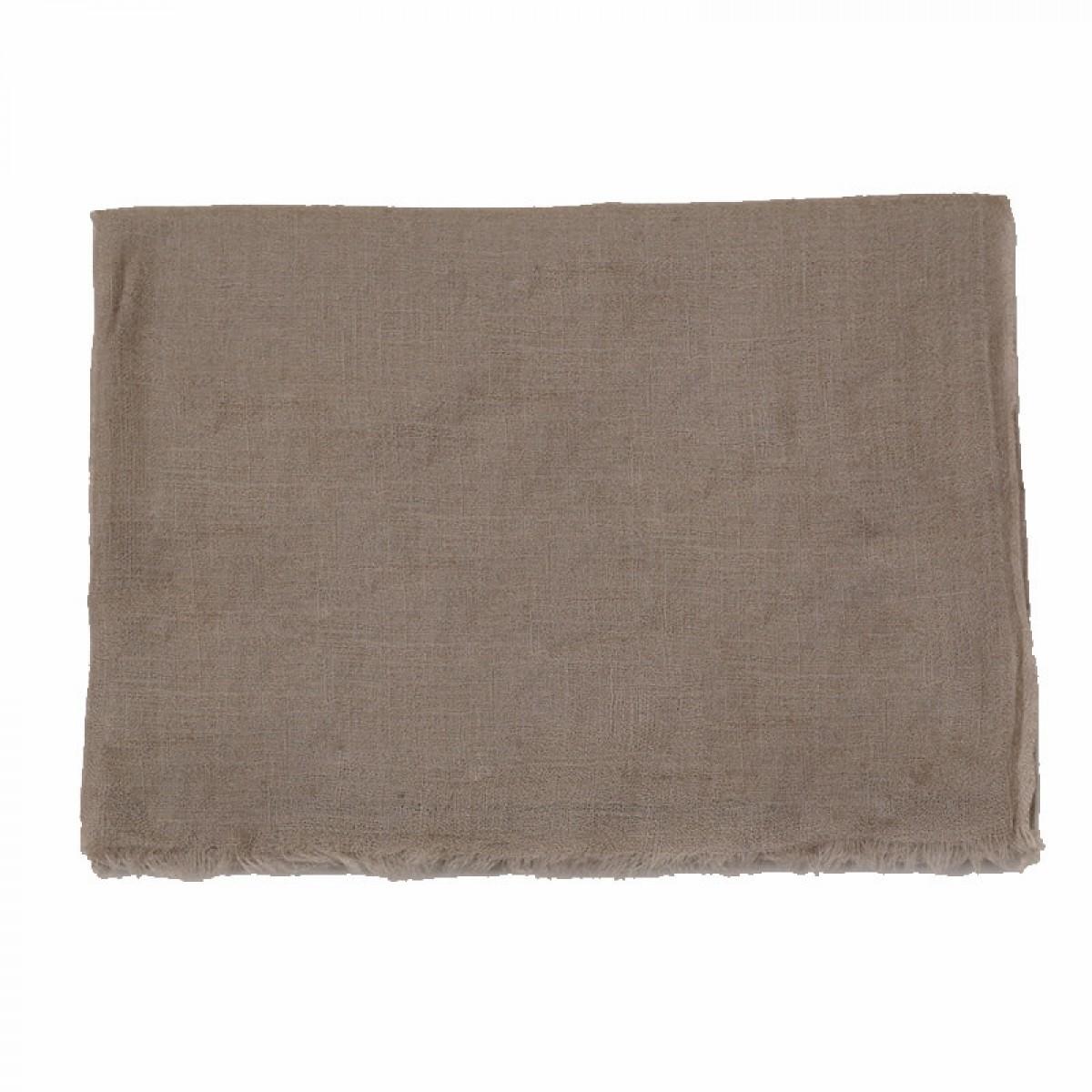 Taupe sheer pashmina scarf