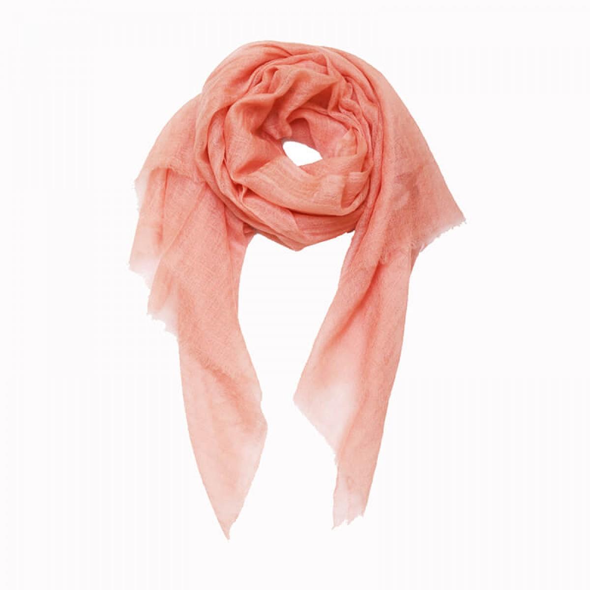 Sheer Pashmina Scarf - Flamingo Pink