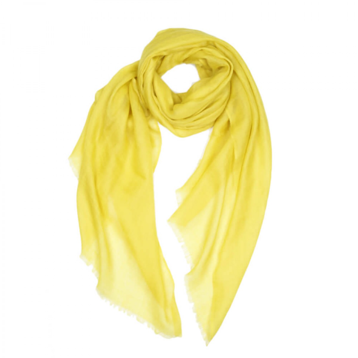 Sheer Pashmina Scarf - Sleeping Lotus Yellow