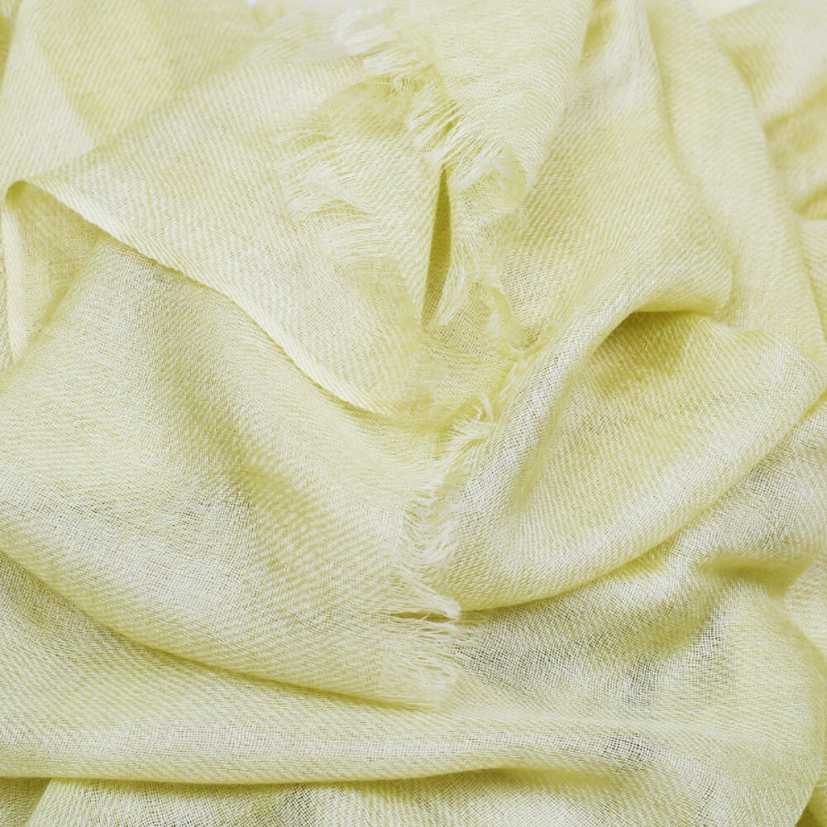 Sheer Pashmina Scarf - Light yellow