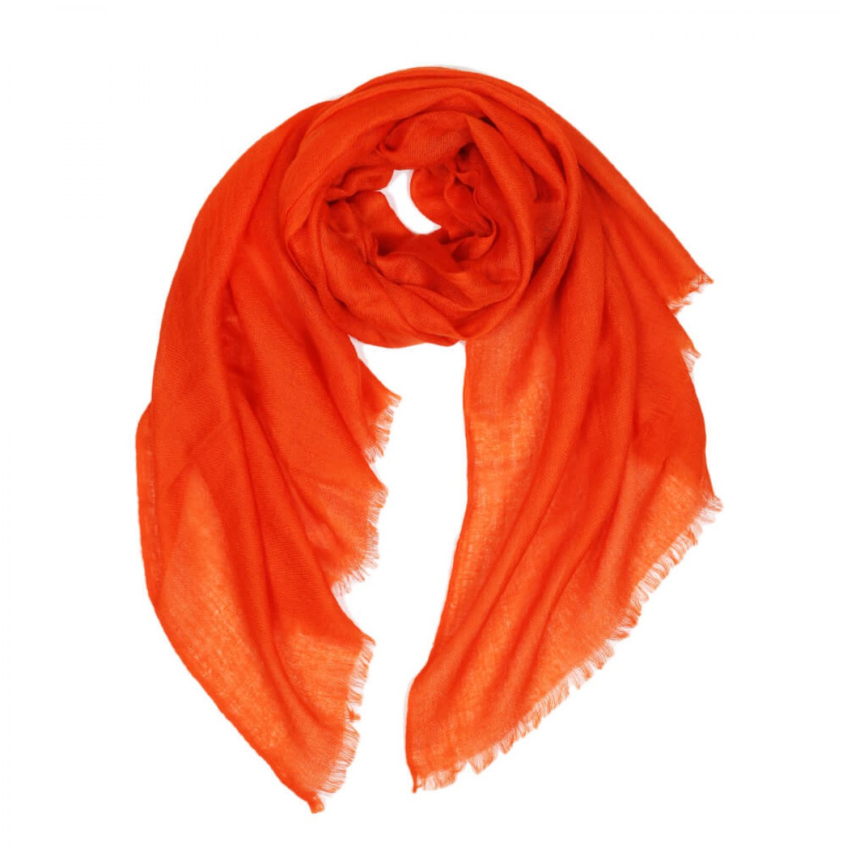 Sheer Pashmina Scarf - Torii Red