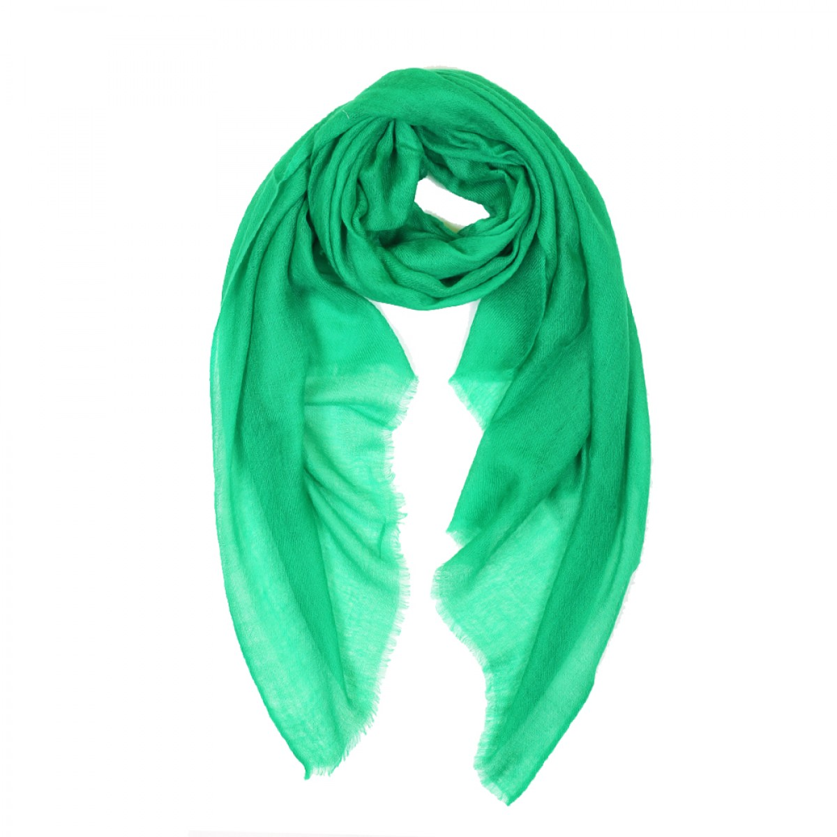 Sheer Pashmina Scarf - Emerald Green