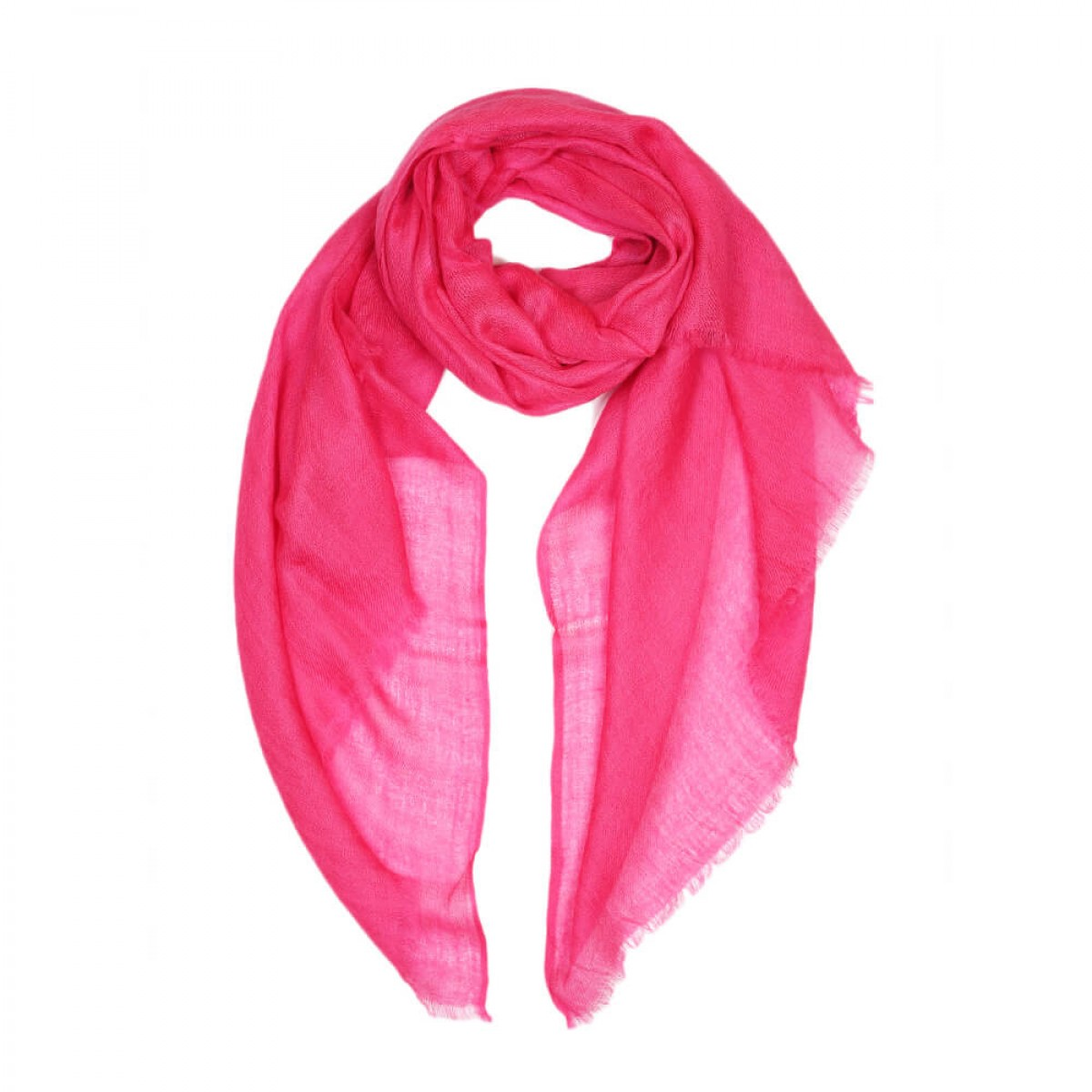 Sheer Pashmina Scarf - Hot pink