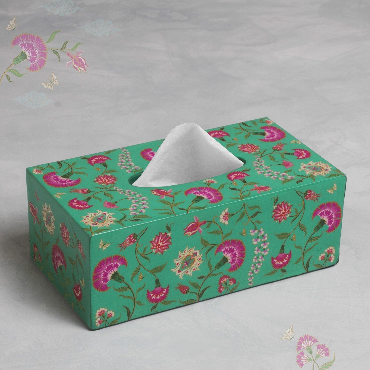 Tissue Box - Green