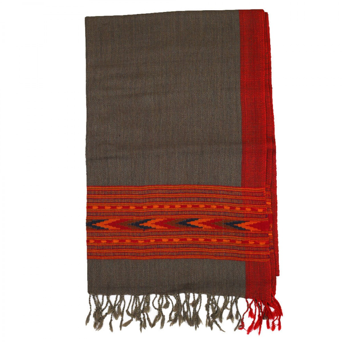 Himalayan Vibes Woolen Stole - Grey