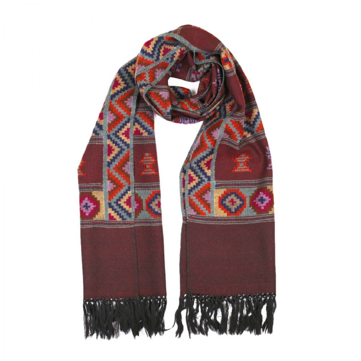 Himalayan Vibes Woolen Stole - Bronze