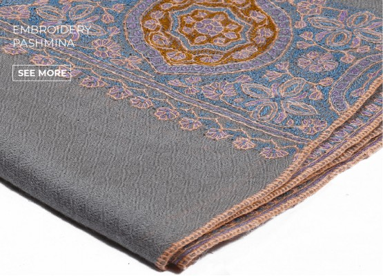 EMBROIDERED PASHMINA