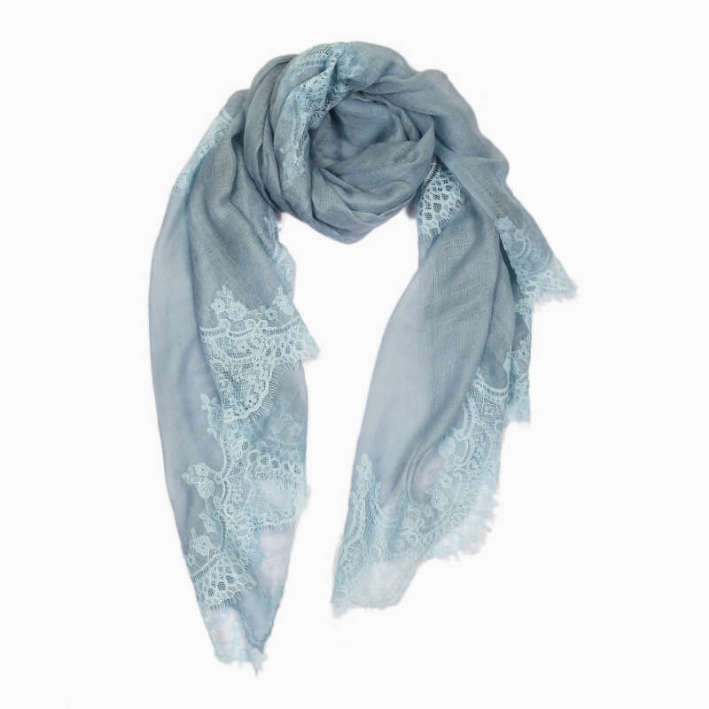 Lace Sheer Pashmina Scarf - Serenity