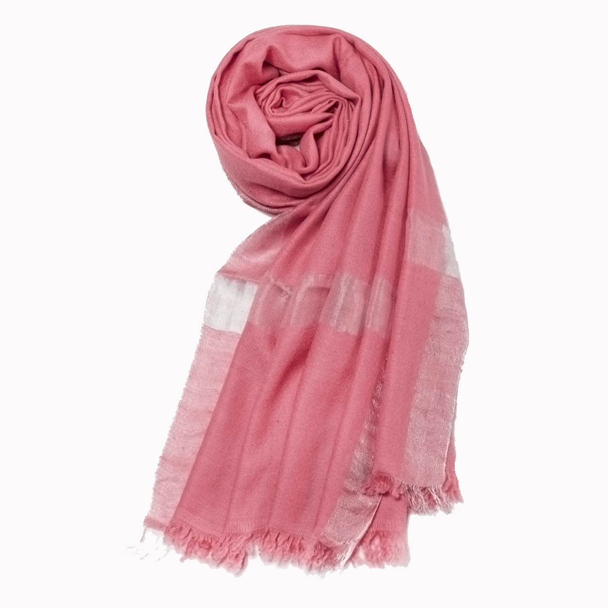 Metallic Rose quartz zari pashmina stole