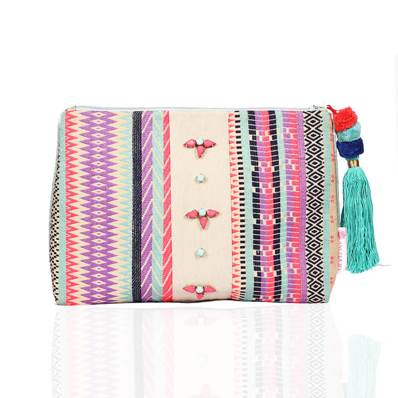 Forever Summer Pouch - Aqua