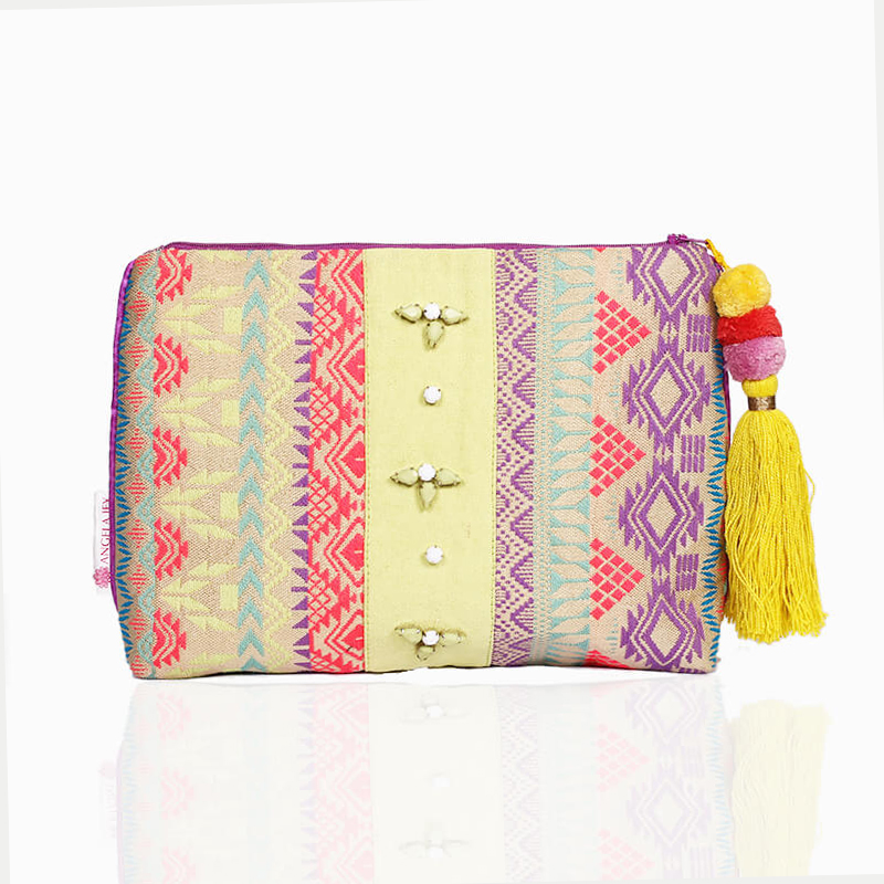 Forever Summer Pouch - Lime Green