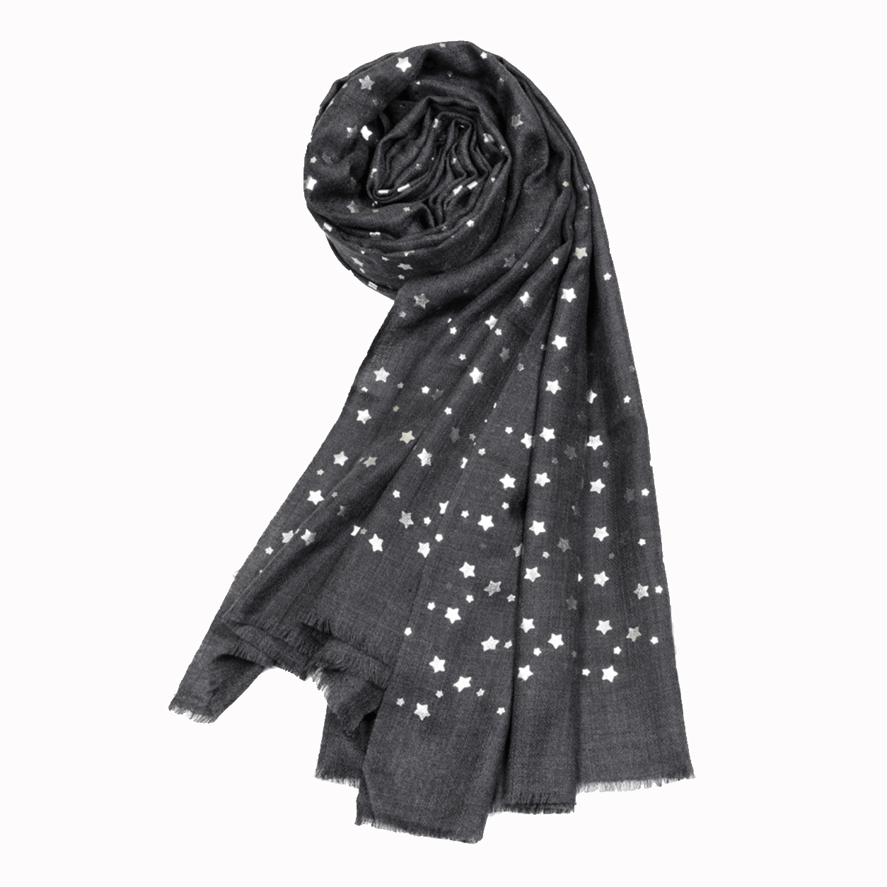 Merino Wool Star Shawl - Agent Grey