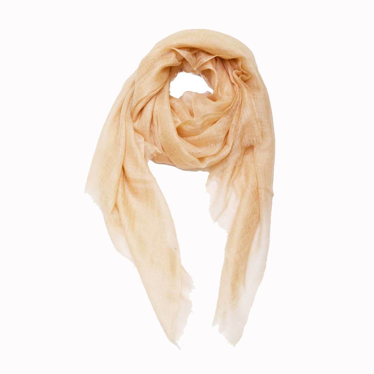 Sheer Pashmina Scarf - Peach